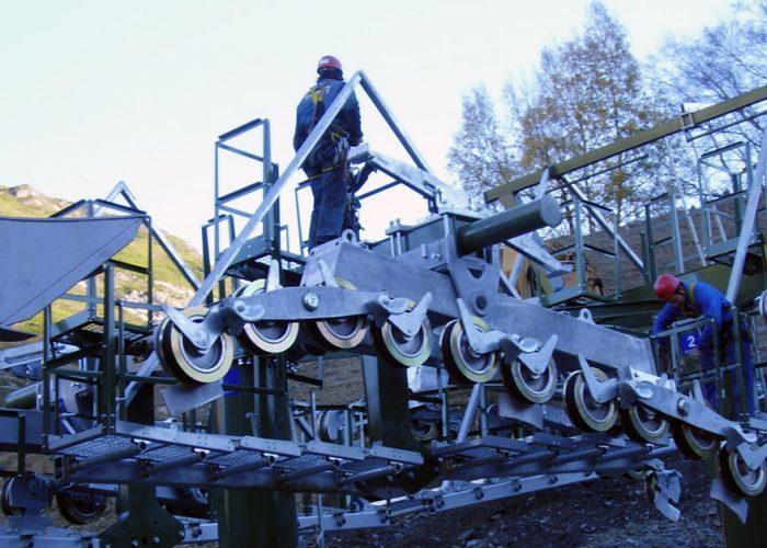 Montaje de remontes mecánicos